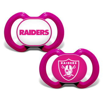 Oakland Raiders 2-Pack Pink Pacifier