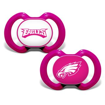 Philadelphia Eagles 2-Pack Pink Pacifier