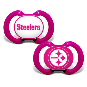 Pittsburgh Steelers 2-Pack Pink Pacifier