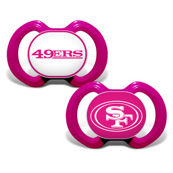San Francisco 49ers 2-Pack Pink Pacifier