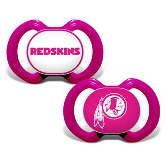 Washington Redskins 2-Pack Pink Pacifier