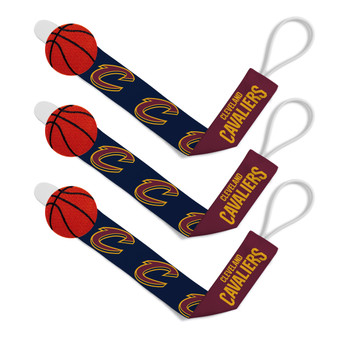 Cleveland Cavaliers Pacifier Clip 3-Pack