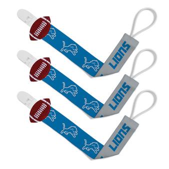 Detroit Lions Pacifier Clip 3-Pack