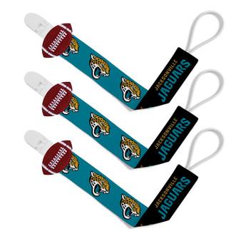 Jacksonville Jaguars Pacifier Clip 3-Pack