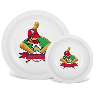 St. Louis Cardinals White Plate & Bowl Set