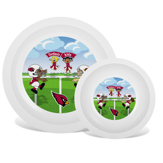 Arizona Cardinals White Plate & Bowl Set