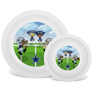 Dallas Cowboys White Plate & Bowl Set