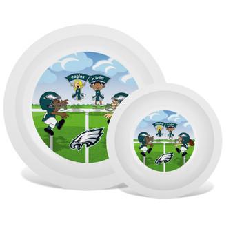 Philadelphia Eagles White Plate & Bowl Set