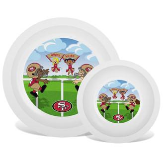 San Francisco 49ers White Plate & Bowl Set