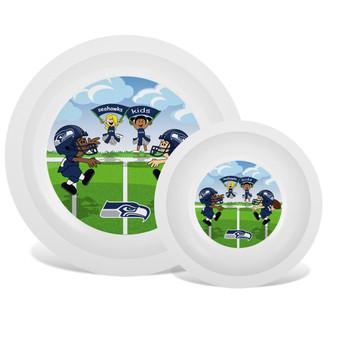 Seattle Seahawks White Plate & Bowl Set