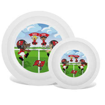Tampa Bay Buccaneers White Plate & Bowl Set