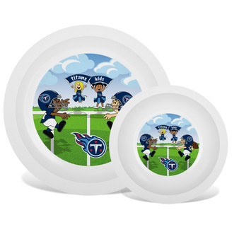 Tennessee Titans White Plate & Bowl Set