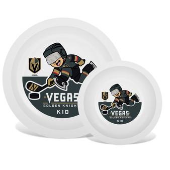 Vegas Golden Knights White Plate & Bowl Set