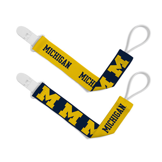 Michigan 2-Pack Pacifier Clips