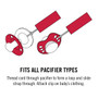 Alabama 2-Pack Pacifier Clips
