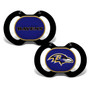 Baby Fanatic NFL Baltimore Ravens 2-Pack Pacifiers