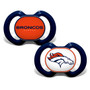 Baby Fanatic NFL Denver Broncos 2-Pack Pacifiers