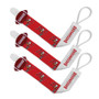 Tampa Bay Buccaneers Pacifier Clip 3-Pack