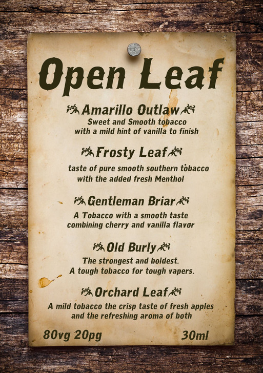 Open Leaf *Synthetic Nicotine*