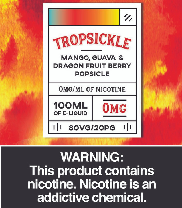 Tropsickle 100ml *Synthetic Nicotine*