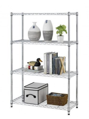 Chrome Wire Shelving Unit With 5 Shelves (A53-295-8D5)