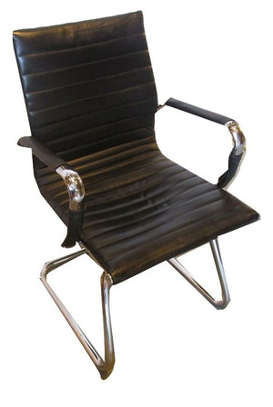 Generic Black Leather Board Room Chair with Chrome Legs And Arms (DAC-91B-323)