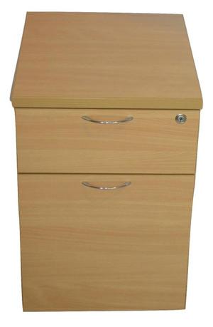 Maple Two Drawer Pedestal (244-0DB-7D2)