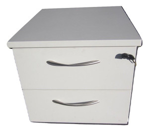 White Under Desk Pedestal (D55-136-334)