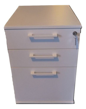 White 3 Drawer Pedestal (DEA-F59-0E5)
