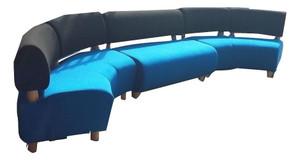 Black And Blue Generic Curved Sofa Set (ED9-21F-8C2)