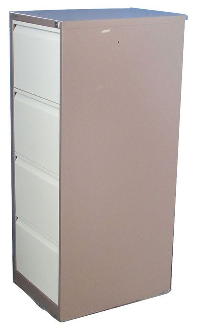 Bisley Brown & Cream 4 Drawer Filing Cabinet (4D2-A4E-64C)