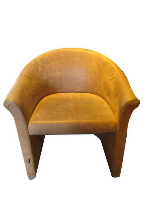 Frovi Brown Suede Tub Chair (ADE-C7A-C2E)