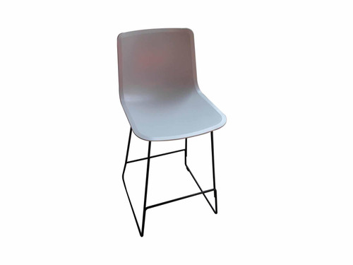 Fredericia White Stool With Black Legs (834-540-2BE)