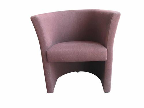 Burgundy Tub Chair (4AA-F37-0A4)