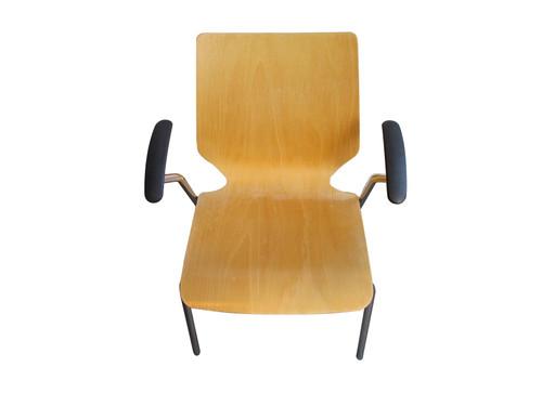 Light Oak Dining Chairs (46F-A3E-9B0)