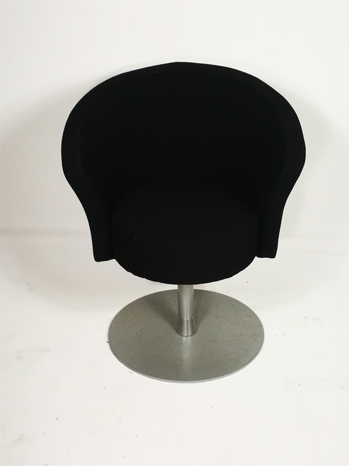Black Fabric Tub Chair (E88-638-9ED)