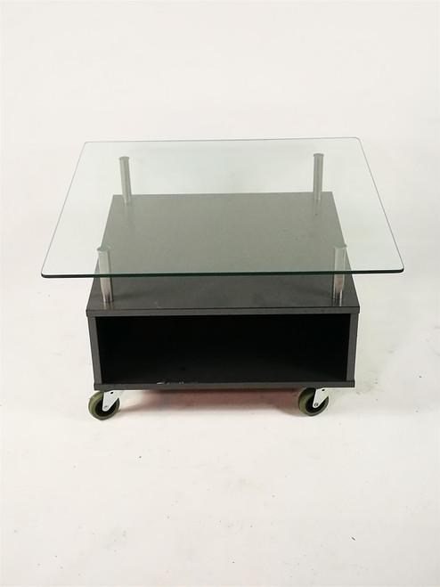 Glass Table on Wheels (E82-2DB-B57)