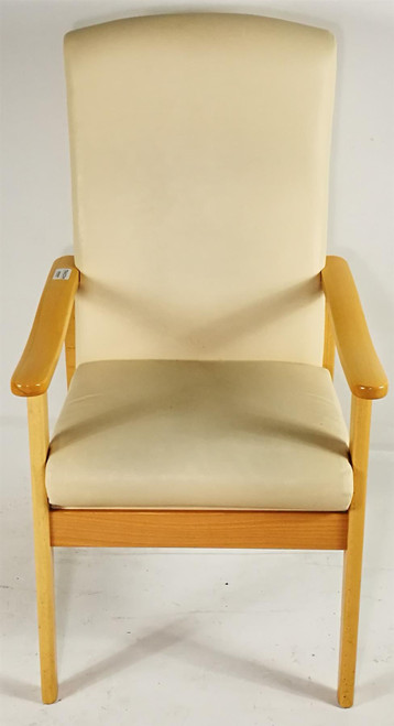 Selkirk Low Back White Armchair (7E9-CD9-328)