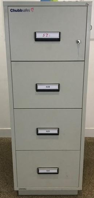 ChubbSafe 4 Drawer Fire Filing Cabinet (400-0BF-C09)