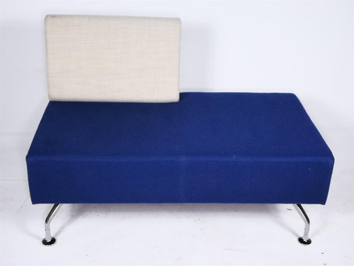 Orangebox PR01-LB Blue and White Sofa (43E-AF6-17C)