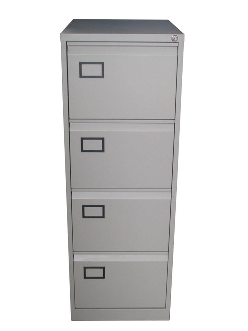 Euro Grey 4 Drawer Filing Cabinet (F19-79C-F5A)