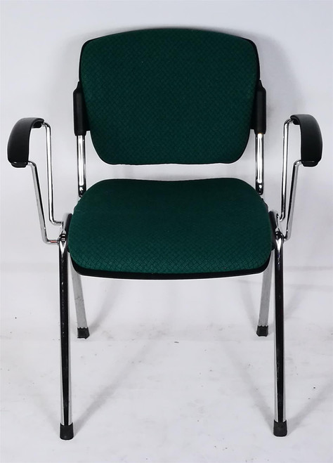 Dark Green Stackable Meeting Chairs (7E3-4E6-C02)