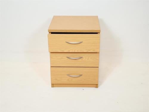3 Drawer Oak Bedside Drawers (3CF-E3B-4A9)