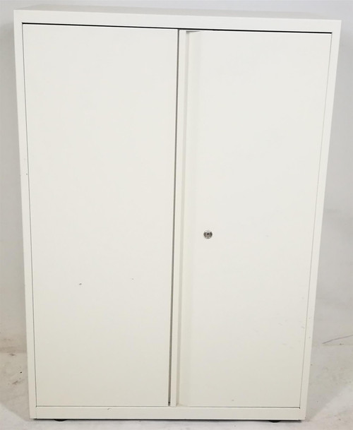 White Metal 2 Shelf Storage Unit (03C-019-A91)