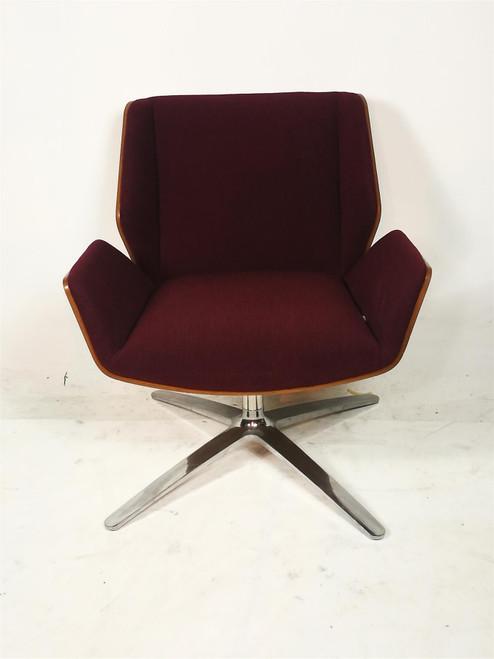 Boss Designs Purple Kruze Fabric Swivel Chair (41D-0B2-48F)