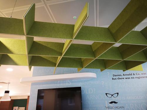 Green Plastic/Fabric Ceiling Decoration Pieces (900-4DA-E72)