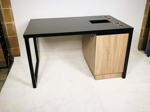 Black Double Sided Desk Unit (3A3-BBD-42B)
