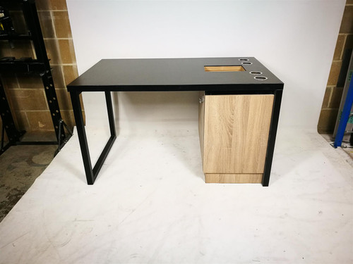 Black Double Sided Desk Unit (551-CB7-F3A)