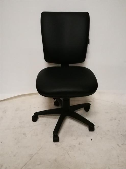Spectrum Black Leather Operator Chair (F12-675-EB5)