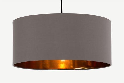 Grey and Copper Hue Pendant Shade (E87-A20-04F)